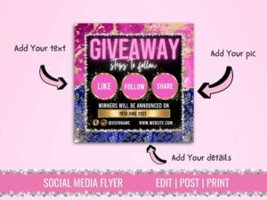 Pink And Blue Giveaway Instagr...