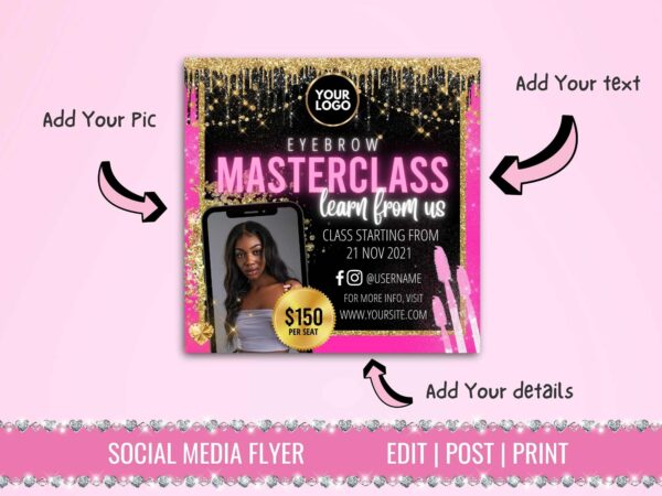 microblading class flyer