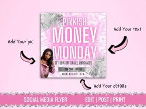 Pinkish Money Monday Instagram Flye...