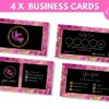 hot pink business card template