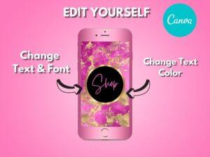 DIY Hot Pink Instagram Story H...