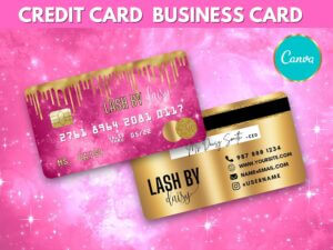 Hot Pink Gold Credit Card Styled Bu...