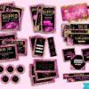 hot pink hair branding kit