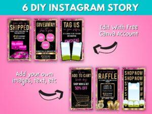 DIY Hot Pink Gold Instagram St...