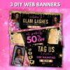 hot pink web banners