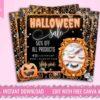 halloween fall sale flyer