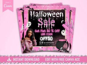 Halloween Sale Instagram Flyer, Hal...