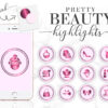 pink beauty instagram highlight icons
