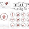 beauty instagram highlights cover icons