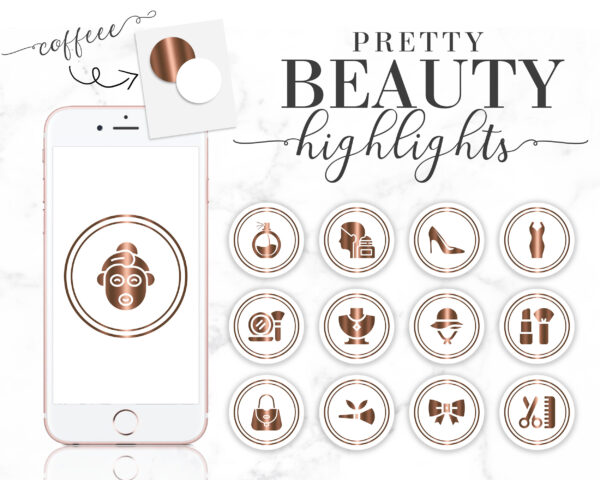 coffee beauty instagram highlight icons