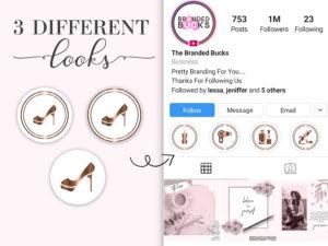 100 Premade Beauty Instagram Highli...